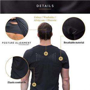 T-shirt Correcteur de Posture pour Homme | Swedish Posture