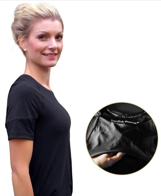 T-shirt correcteur de posture pour femme Swedish-Posture